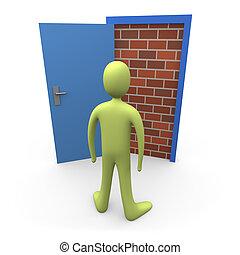 #1, dörr, blockerat