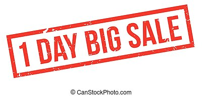 1 day big sale rubber stamp