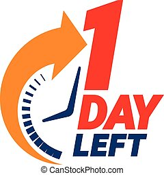 1 day left. Countdown banner.