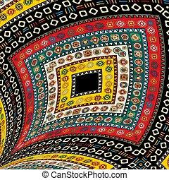 1, decorativo, tribale, disegno