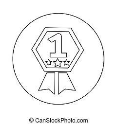 1, desenho, número, ilustração, ícone