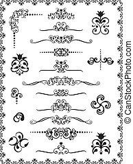 1, desenho, ornamentos