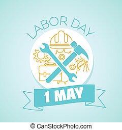 1, dia maio, trabalho
