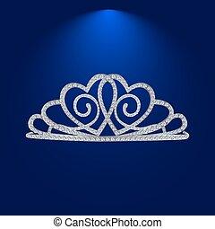 1, diamant, tiara