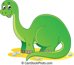 1, dinosaurus, thema, beeld