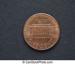 1 dollar cent coin