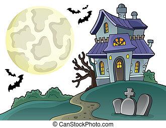 1, dom, temat, nawiedzany, wizerunek