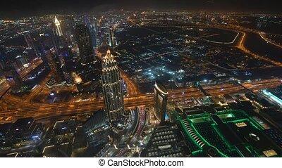 1., dubai, burj, khalifa, februar, 2019, ansicht, timelaps, video