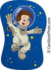 #1, espacio, niño