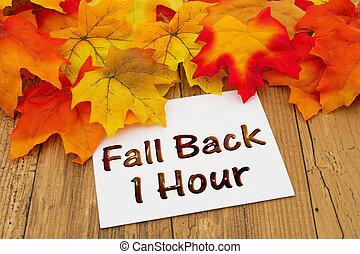 1, espalda, hora, otoño