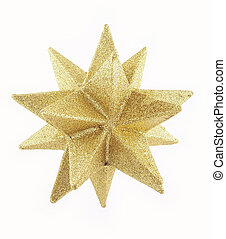 1, estrela, ouro