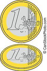 1 euro as crisis symbol
