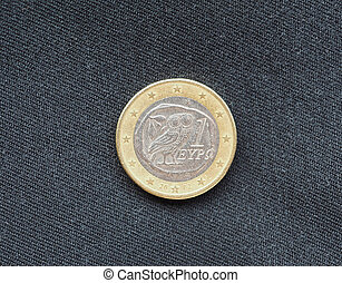 1 euro coin, Greece, Europe