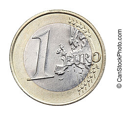 1 euro isolated