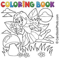 1, fée, livre coloration