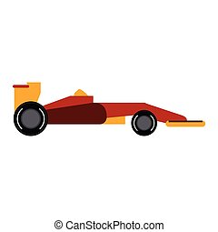 1, fórmula, sideview, coche