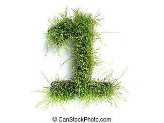 1, fait, -, nombres, herbe