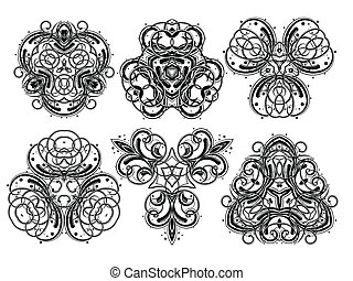 1, fantasia, ornamenti