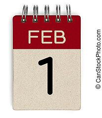 1, feb, naptár