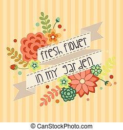 1, fleur, bannière