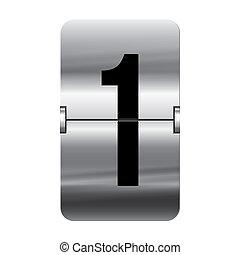 1, flipboard, -, prata, número
