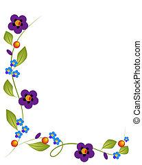 1, flores, fundo