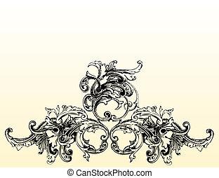 1, florescer, ilustração