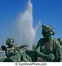 1, -, fontanna, versailles