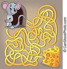 1, formaggio, topo, labirinto