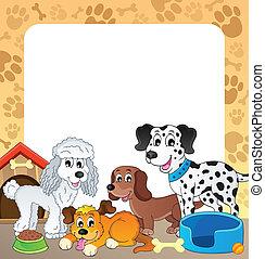 1, frame, thema, dog