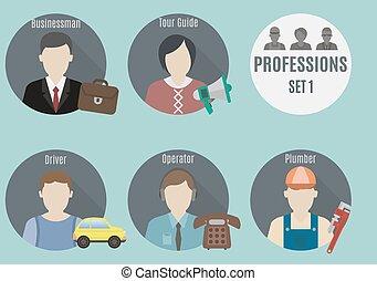 1, gens., ensemble, profession