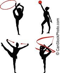1, ginnastiche ritmiche, silhouette