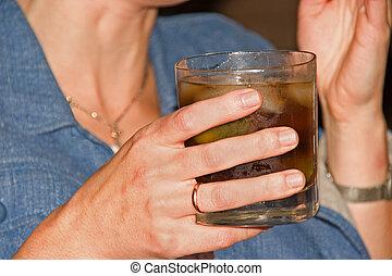 1 , glas , χέρι