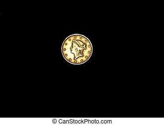 $1 Gold Piece Front Side