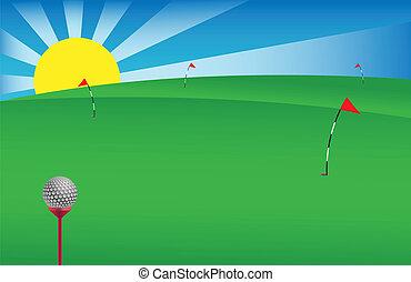 1, golf, bannière