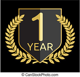 1, guirnalda laurel, año