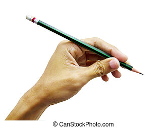 1 hand with pencil