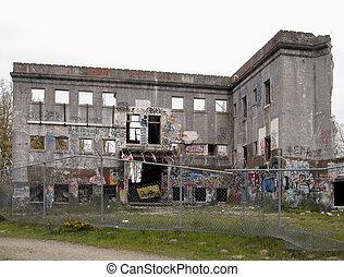 1, hospital, ruinas