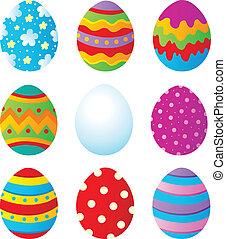 1, huevos, pascua, colección
