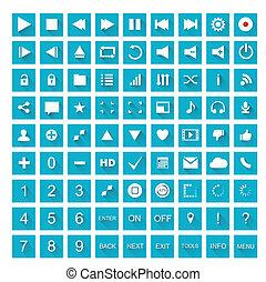 1, icone fotoricettore, set