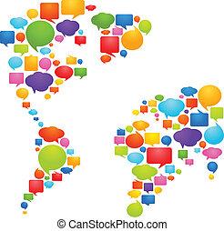 1, idéer, värld, -