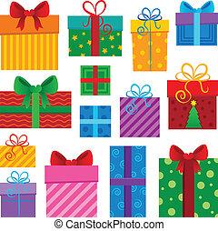 1, image, thème, cadeau