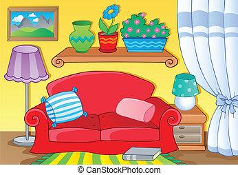 1, imagem, tema, sala, mobília