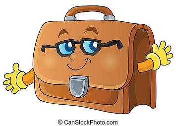 1, imagen, tema, maletín