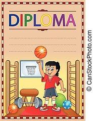 1, immagine, concetto, diploma