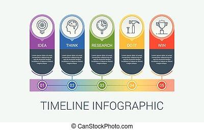 1, infographic, illustration, vecteur