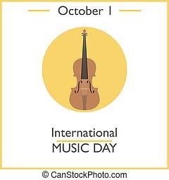 1, internazionale, giorno, ottobre, musica