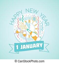 1, januari, glada nya år
