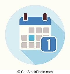1 january calendar date icon vector, filled flat sign. - 1...