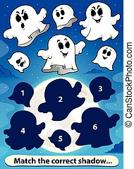 1, jeu, allumette, ombre, fantômes